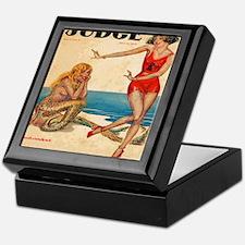 Vintage Mermaid and Flapper Keepsake Box
