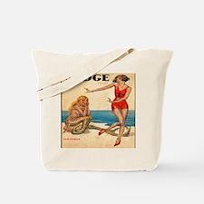 Vintage Mermaid and Flapper Tote Bag