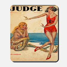 Vintage Mermaid and Flapper Mousepad