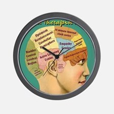 Inside a Therapists Brain Wall Clock