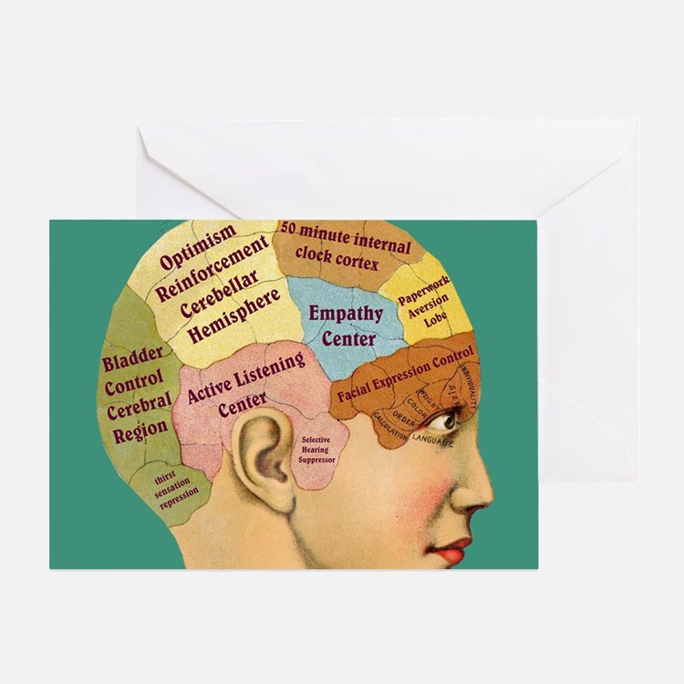 Inside a Therapists Brain Greeting Card