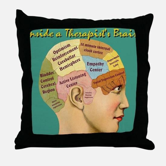 Inside a Therapists Brain Throw Pillow