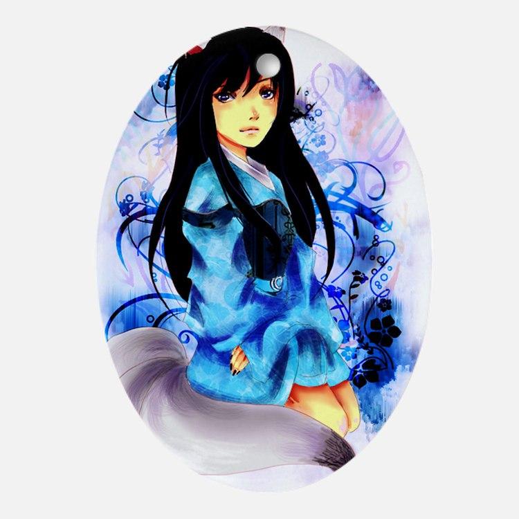 Anime Fauna Oval Ornament