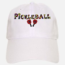 Colorful Pickleball Letters and Paddles Cap