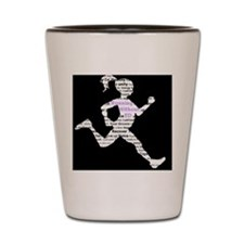 Running Without Ed Logo Shot Glass