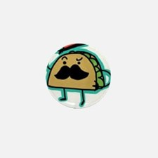 Taco mustache Mini Button