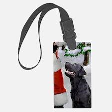 Labrador Retriever Christmas Luggage Tag