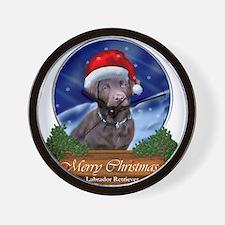 Labrador Retriever Christmas Wall Clock