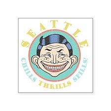 "funhouse-seattle-DKT Square Sticker 3"" x 3"""