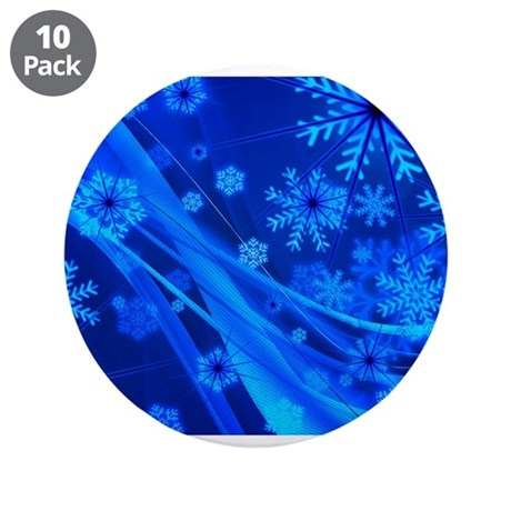 """Blue Christmas 3 3.5"""" Button (10 pack)"""