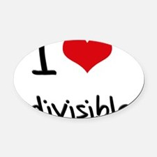 I Love Indivisible Oval Car Magnet