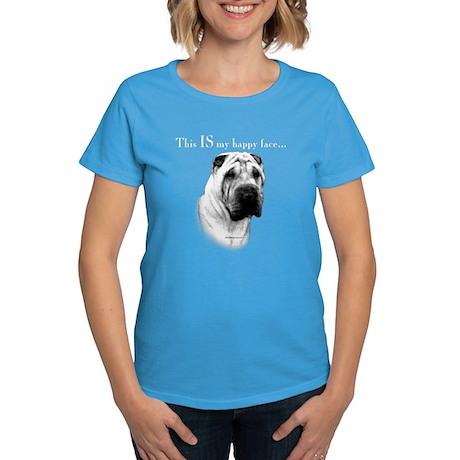 Shar Pei Happy Women's Dark T-Shirt