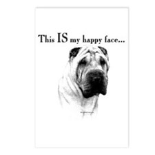 Shar Pei Happy Postcards (Package of 8)