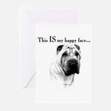 Shar Pei Happy Greeting Cards (Pk of 10)