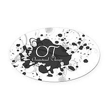 OT grunge Oval Car Magnet