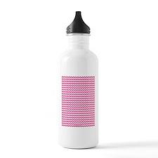 Chevron Pink Water Bottle