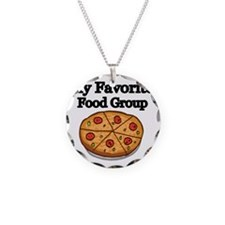 My Favorite Food Group Necklace Circle Charm