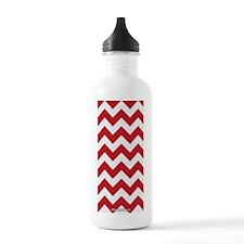 Chevron Red Water Bottle