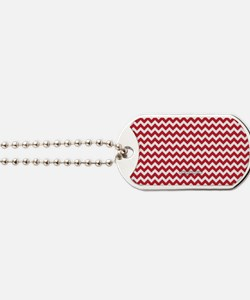 Chevron Red Dog Tags