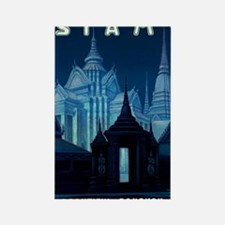 Antique Siam Bangkok Temples Trav Rectangle Magnet