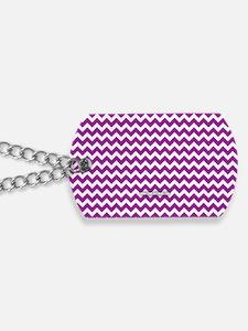 Chevron Purple Dog Tags