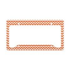 Chevron Orange License Plate Holder
