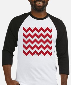 Chevron Red Baseball Jersey