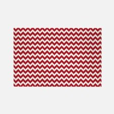 Chevron Red Rectangle Magnet