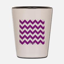 Chevron Purple Shot Glass