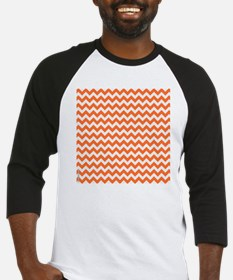 Chevron Orange Baseball Jersey