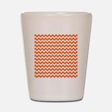 Chevron Orange Shot Glass