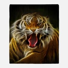 Electric Tiger Throw Blanket