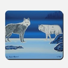 2 Wolves Mousepad