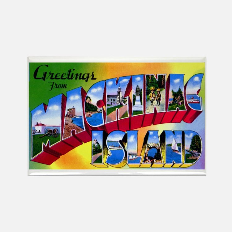 Mackinac Island Michigan Rectangle Magnet