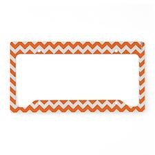 Chevron Orange License Plate Holder