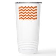 Chevron Orange Travel Mug