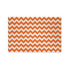 Chevron Orange Rectangle Magnet