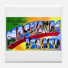 Mackinac Island Michigan Tile Coaster