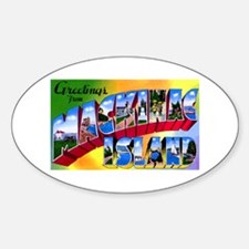 Mackinac Island Michigan Oval Decal