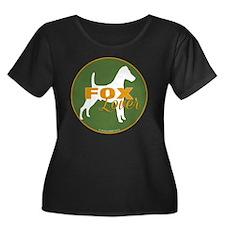 FoxLover Women's Plus Size Dark Scoop Neck T-Shirt