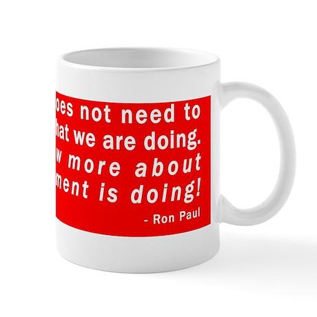 Ron Paul NSA Quote Mug