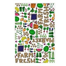 Farmers Market Medley Postcards (Package of 8)