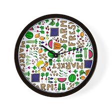 Farmers Market Medley Wall Clock