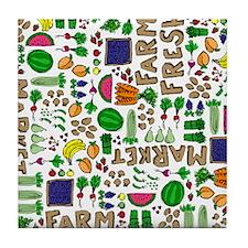 Farmers Market Medley Tile Coaster
