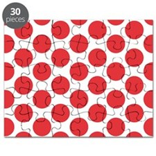 Poppy Red Polkadot Puzzle
