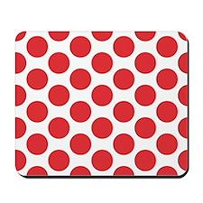 Poppy Red Polkadot Mousepad