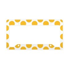 Sunny Yellow Polkadot License Plate Holder