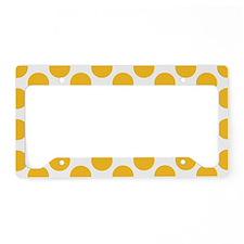 Sunny Yellow Polkadot License Plate Holder