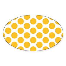 Sunny Yellow Polkadot Decal