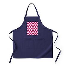 Hot Pink Polkadot Apron (dark)